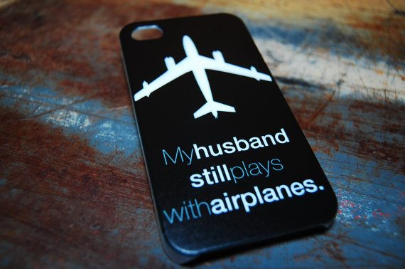 phone cover my husband still plays with airplanes