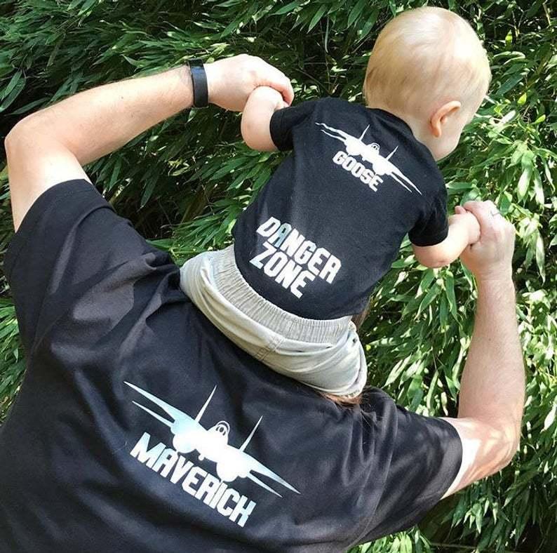 Maverick and Goose Top Gun Father's Day shirts