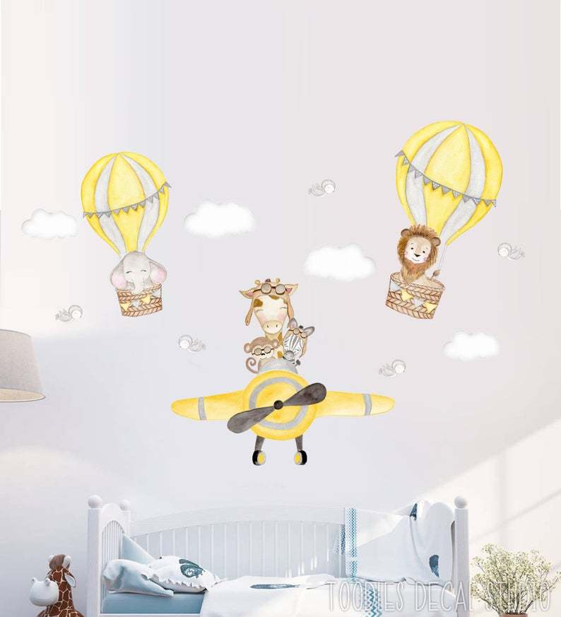 airplane wall decals nursery stickers
